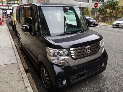 N BOX CUSTOM G Turbo,本田 Honda,2014,BLACK 黑色,4,c139 / c175221